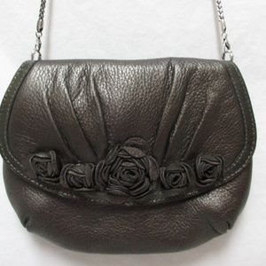 BRIGHTON Velvet Rose Pouch Leather Purse NEW